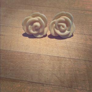 Jewelry - Rose Stud Earrings